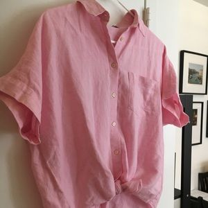 Short Sleeve Tie-Front Top From Madewell